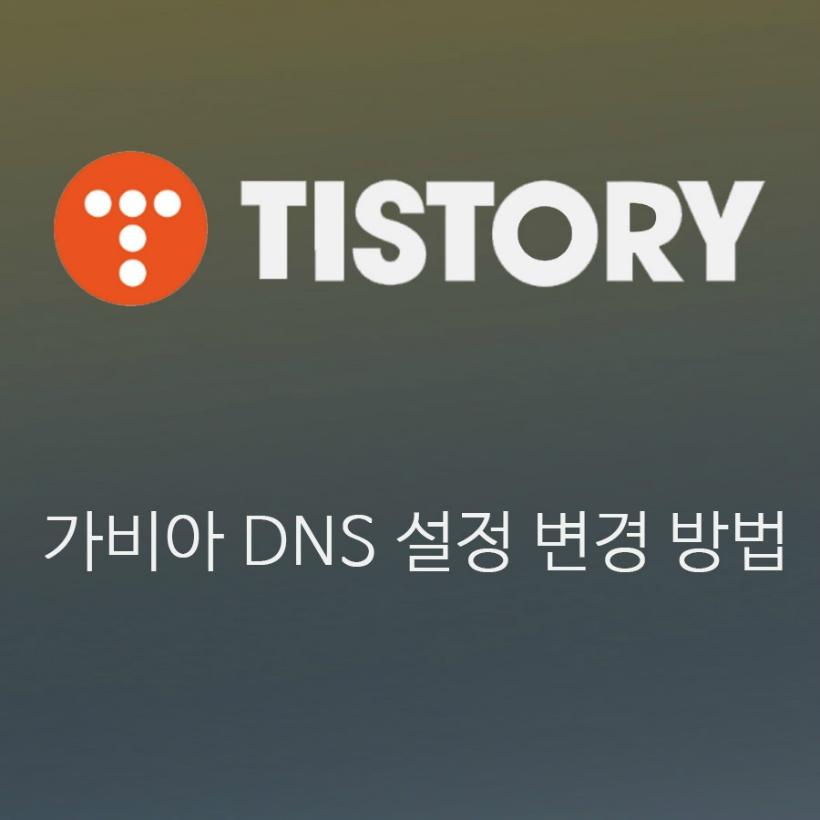 티스토리 2차 도메인 블로그의 가비아(Gabia) DNS 설정 변경 방법