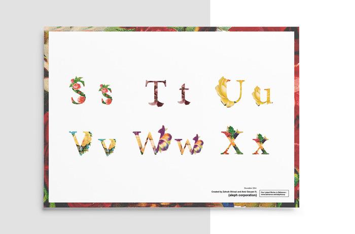 빈티지 플라워 꽃 무료 영문 폰트 - Vintage & Eroded Free Font