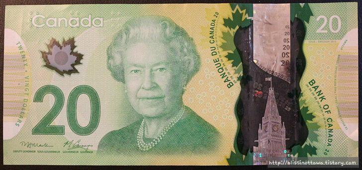 화폐로 알아보는 캐나다 역사 문화 20달러 지폐