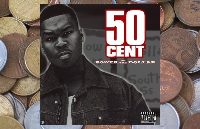 사진: 9발의 총알을 받게 했다는 게토 코란(Ghetto Qu'ran)이 실린 50센트의 초기 앨범 파워 오브 더 달러의 앨범재킷. 갱스터 힙합다운 이미지가 풍긴다. [50센트, 총알 9발의 갱스터 힙합 노래]