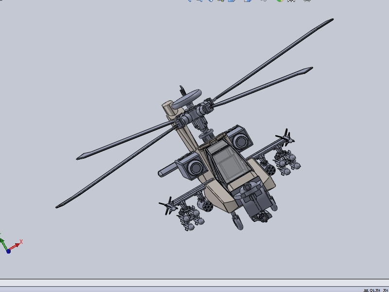 솔리드웍스 |  아파치 헬리콥터