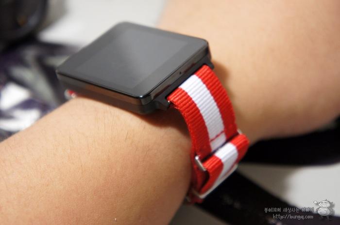 g watch, G워치, 시계줄, 교체, 나토밴드, 레드화이트