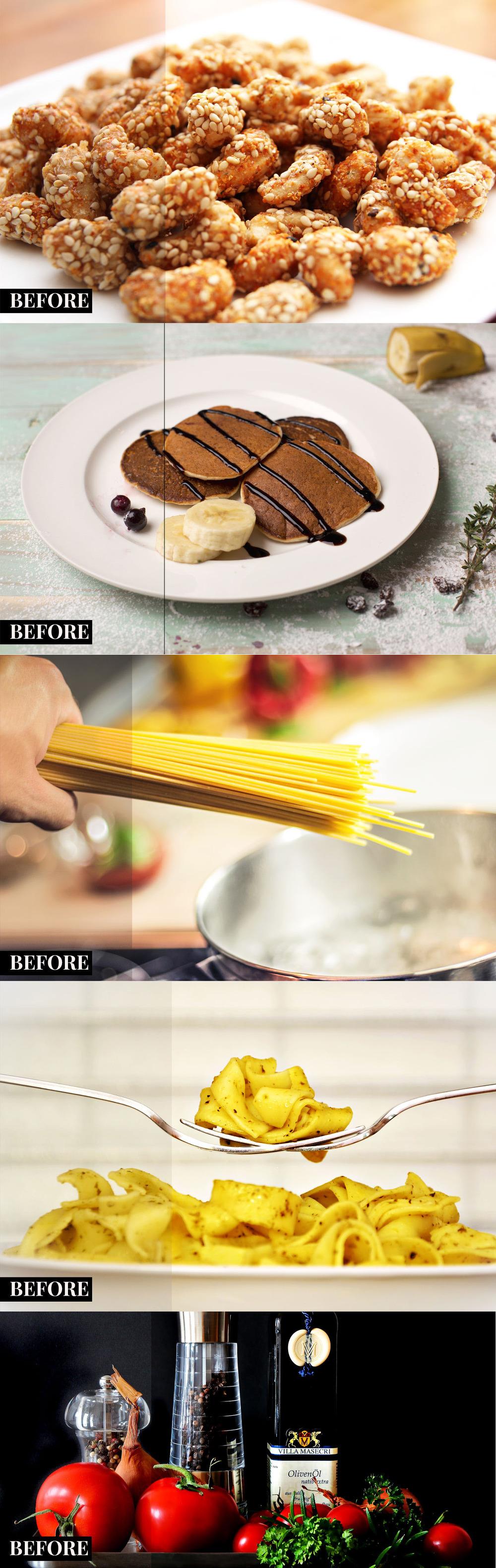 2 가지 무료 음식/푸드 포토샵 액션 - 2 Free Food Photoshop Actions