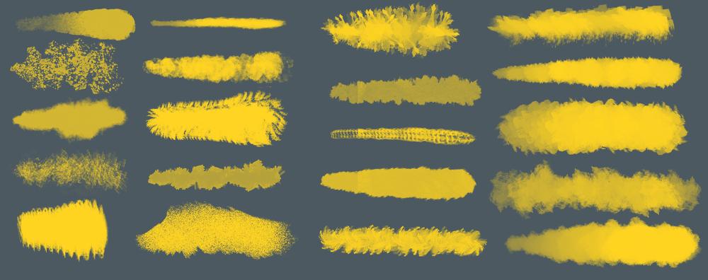 20 가지 무료 포토샵 수채화 브러쉬 - 20 Free Photoshop Watercolor Brushes