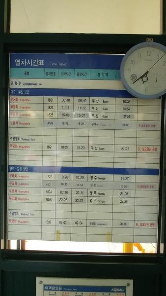 용궁역 열차시간표