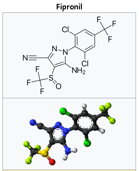 피프로닐(Fipronil) 구조