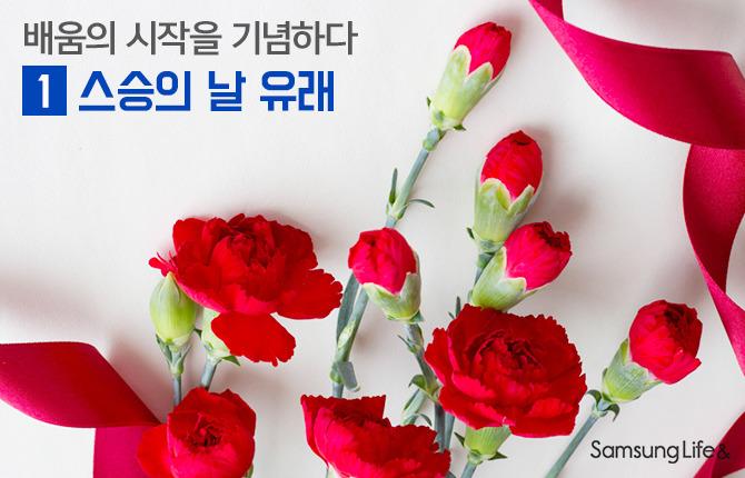 카네이션 꽃다발 스승의날 감사