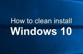 윈도우10 클린 설치 방법