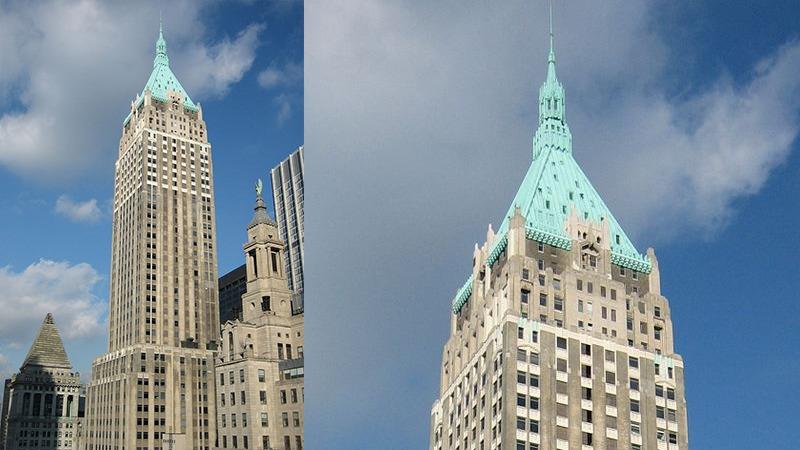 사진: 현재 트럼프 빌딩으로 불리는 40 월 스트리트 빌딩. 미국 대통령 트럼프의 소유다.