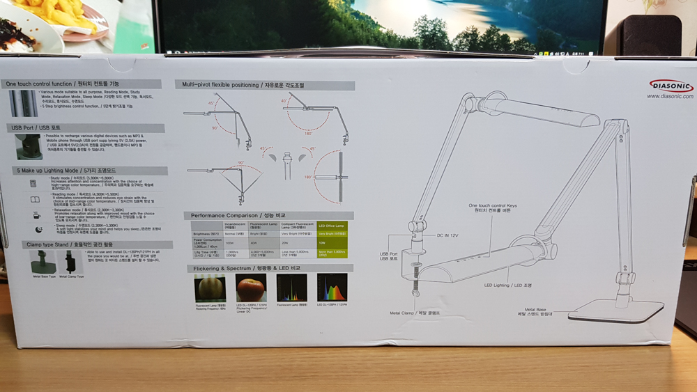 다이아소닉 DL-120PH 제품 박스 후면