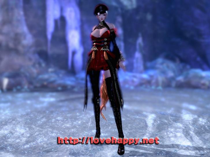 블레이드앤소울 의상 - 할로윈 분위기의 붉은띠 호박의. 드레스 의상 003