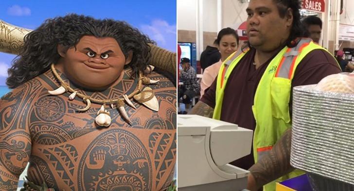 하와이 코스트코에서 일하는 애니메이션 모아나의 주인공